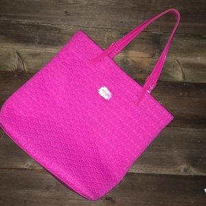 Micheal Kors Large Pink Neoprene Tote